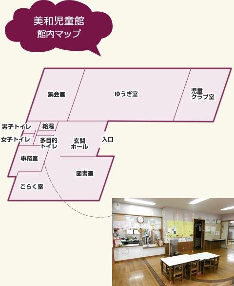 美和児童館 館内マップ